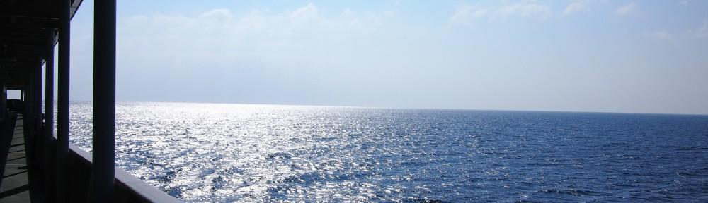 フェリーから。どこまでも海