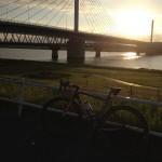 早朝の荒川サイクリングロード