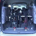 MTBとロードバイク3台が楽々つめる