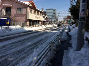雪でビチャビチャな道路ってイヤですよね
