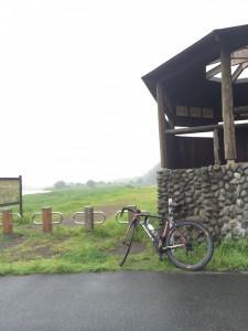 霧雨の朝ライド