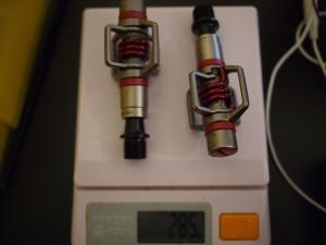 エッグビーター3の実測重量はペアで285g