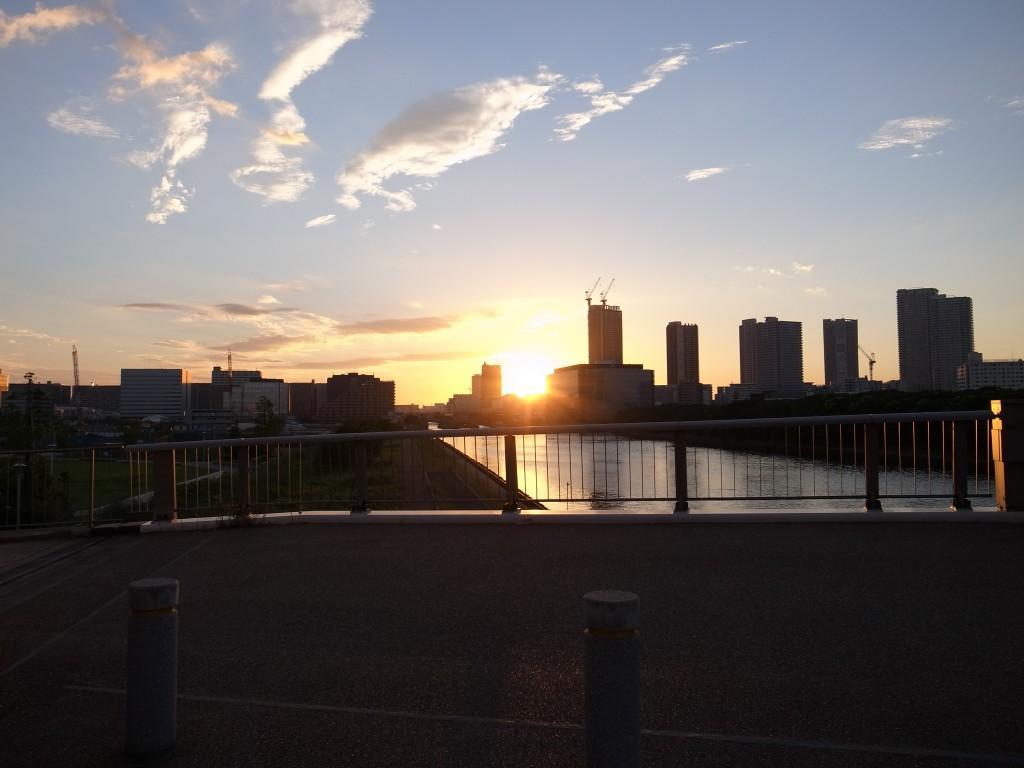綺麗な朝日
