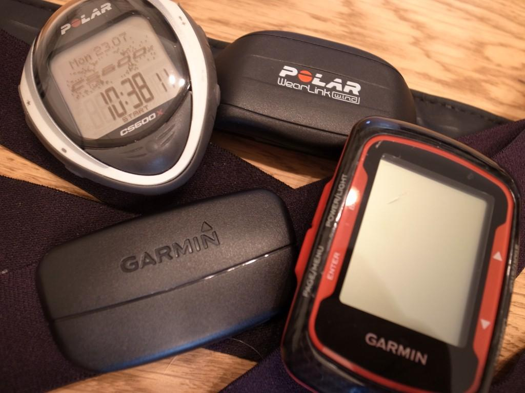 Polar CS600XとGarmin Edge 500J